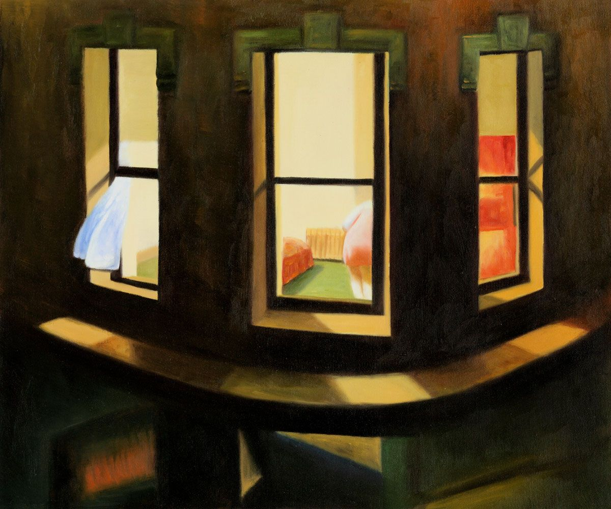 Wall Art: Edward Hopper - Night Windows - Oil Reproduction ...