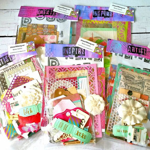 Mixed Media Art Journal Creative Collage by ArtandWhimsyCreates