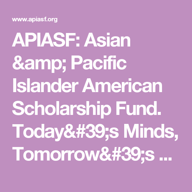 asian pacific islander scholarships