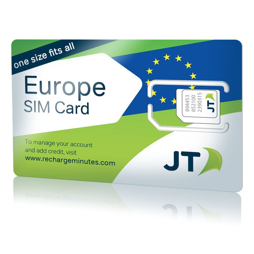 Telestial Europe SIM Card for Calls, Texts & Data with