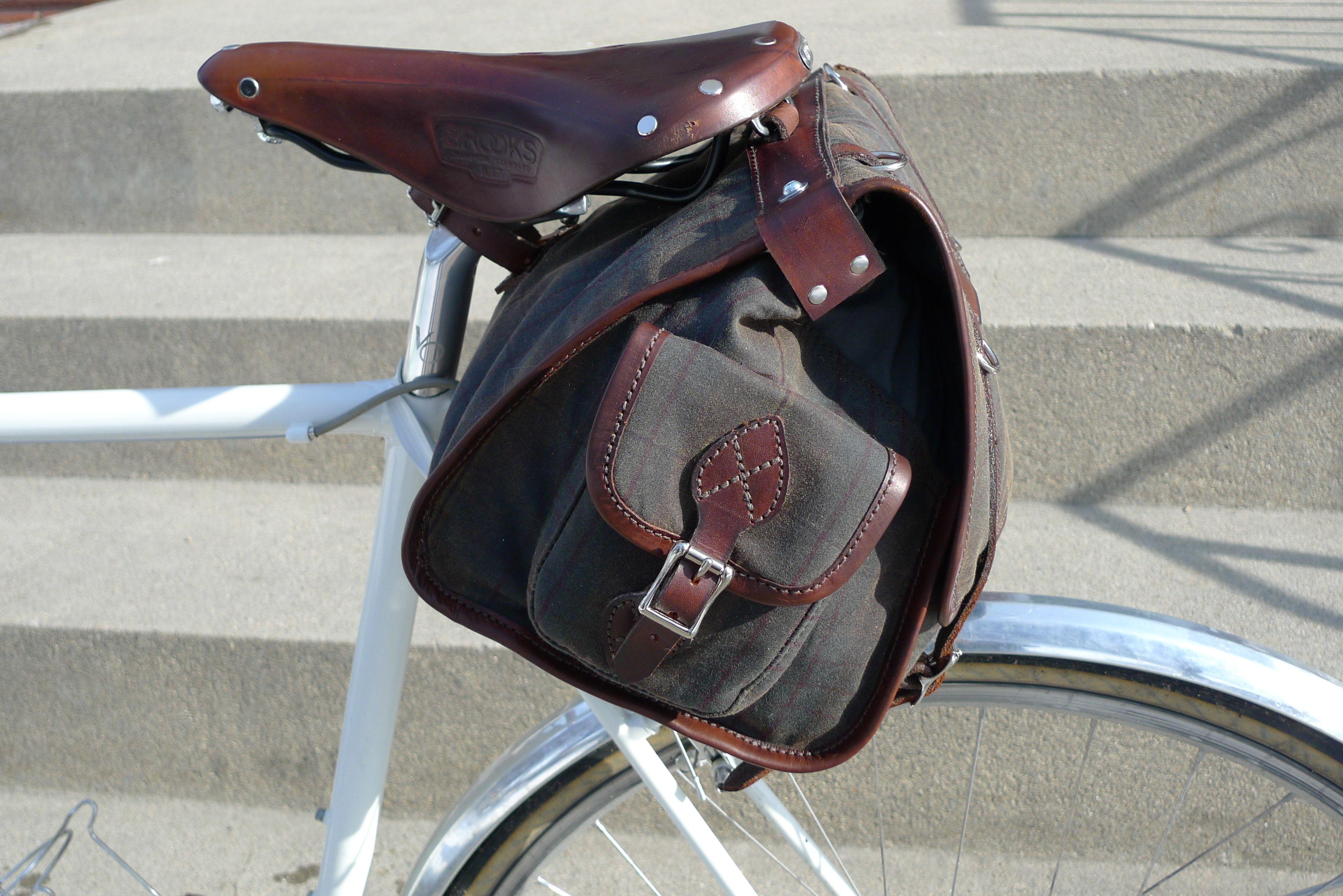Vintage Tweed Bicycle Saddlebag Pretty Bike Tweed Bicycle Touring Bike
