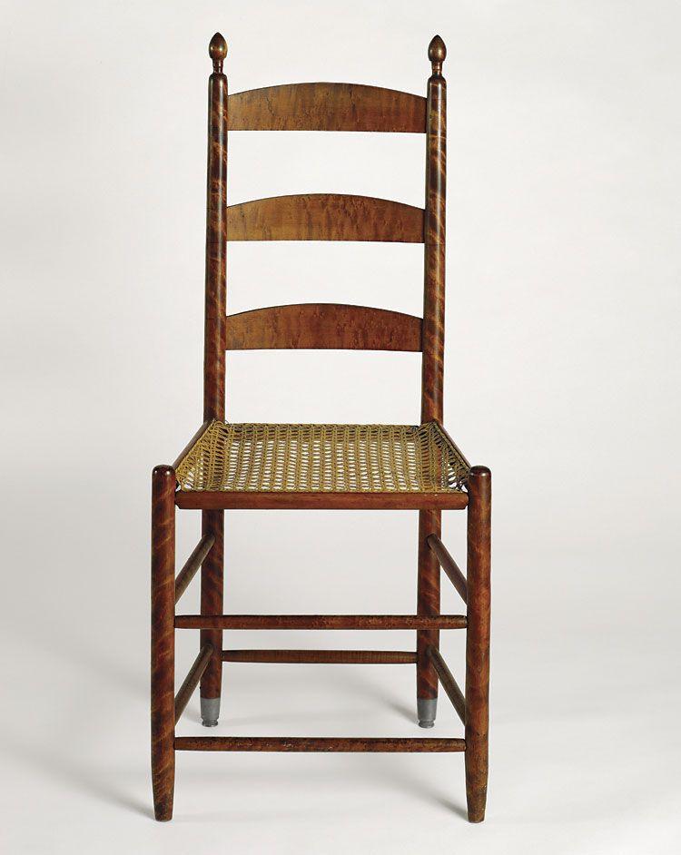 Mt Lebanon Shaker chair in striped maple - Mt Lebanon Shaker Chair In Striped Maple Shaker // Shakerish