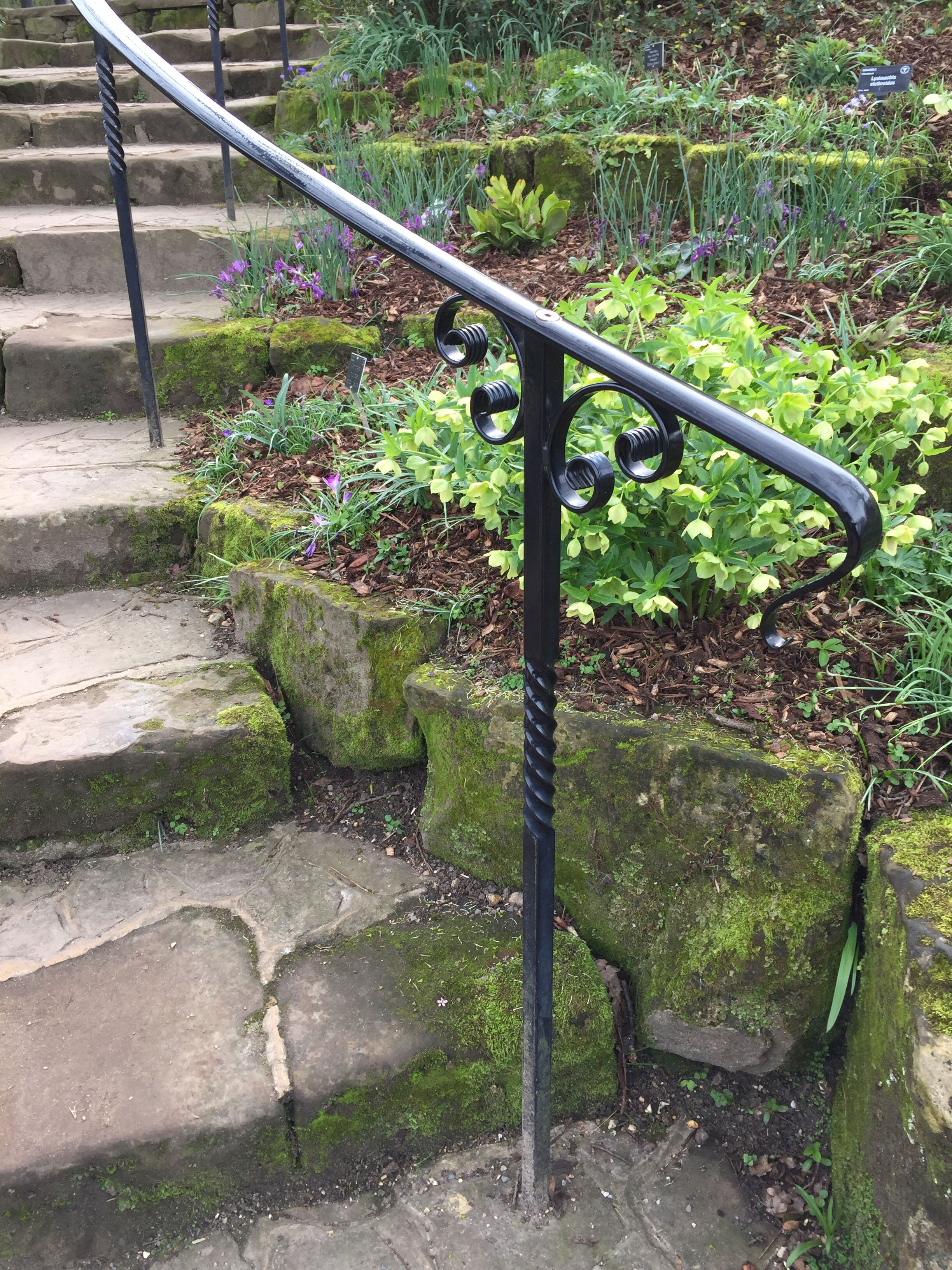 Outside Stairs Beautiful Railings At Rhs Wisley Stone Steps In 2019 Outside