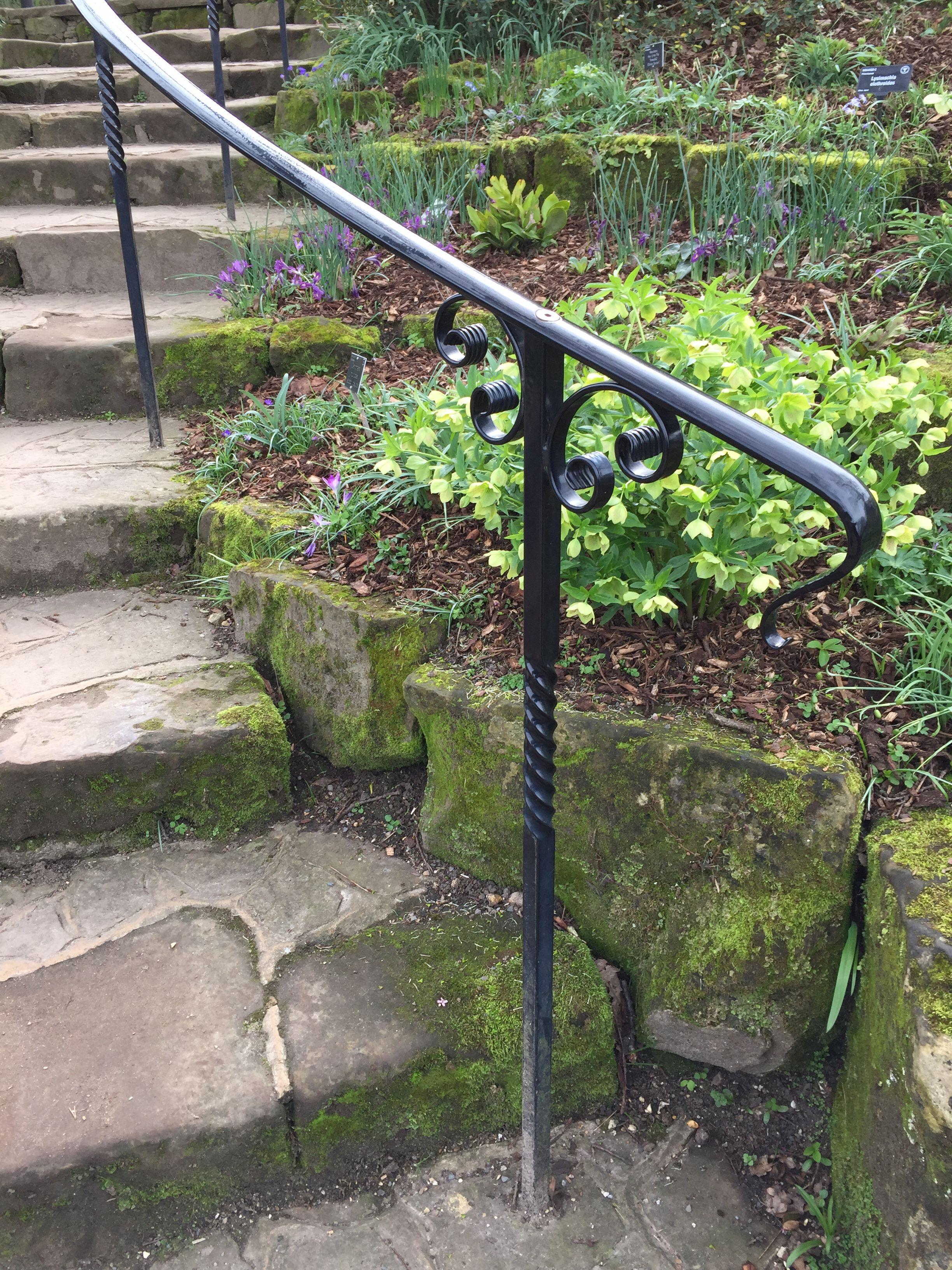 Beautiful Railings At Rhs Wisley Outdoor Stair Railing | Installing Railing On Stone Steps