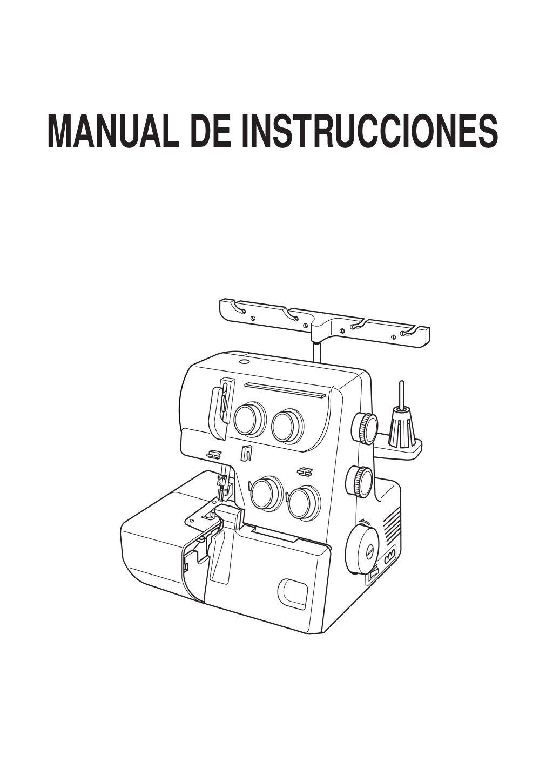 Manual de instrucciones maquina 8002D Janome, maquina overlock by ...