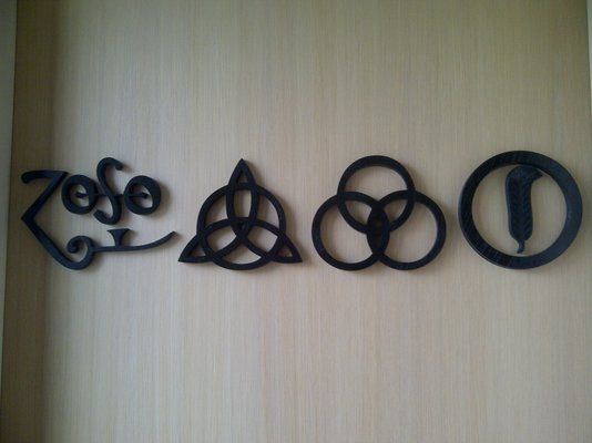 Custom wall decor inspired by Led Zeppelin symbols | I want this in ...