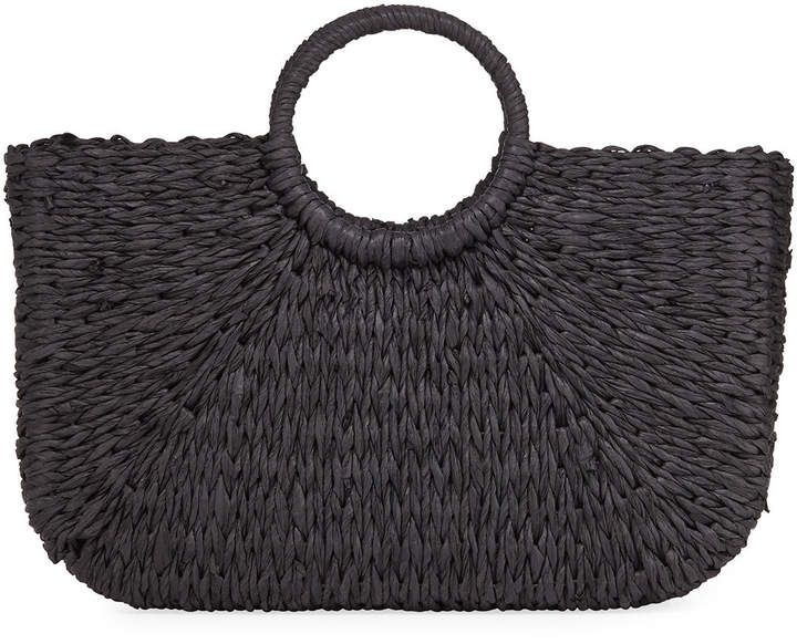 Photo of French Connection Molly East West Woven Straw Tote Bag