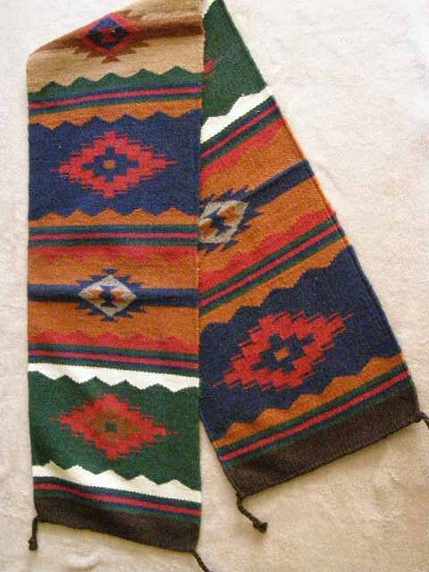Mexican Zapotec Design Table Runner Southwest Style In