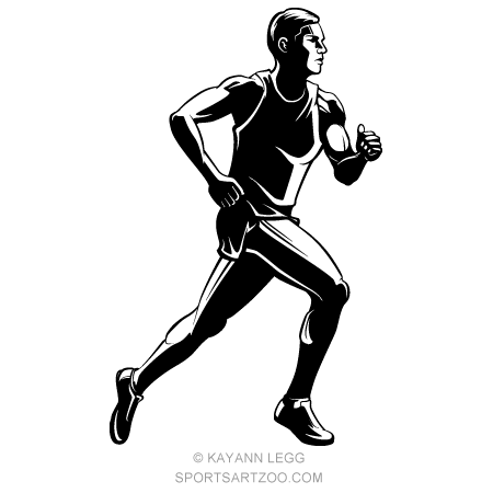 Male Sprinter Highlighted Silhouette Sportsartzoo Free Clip Art Royalty Free Clipart White Highlights