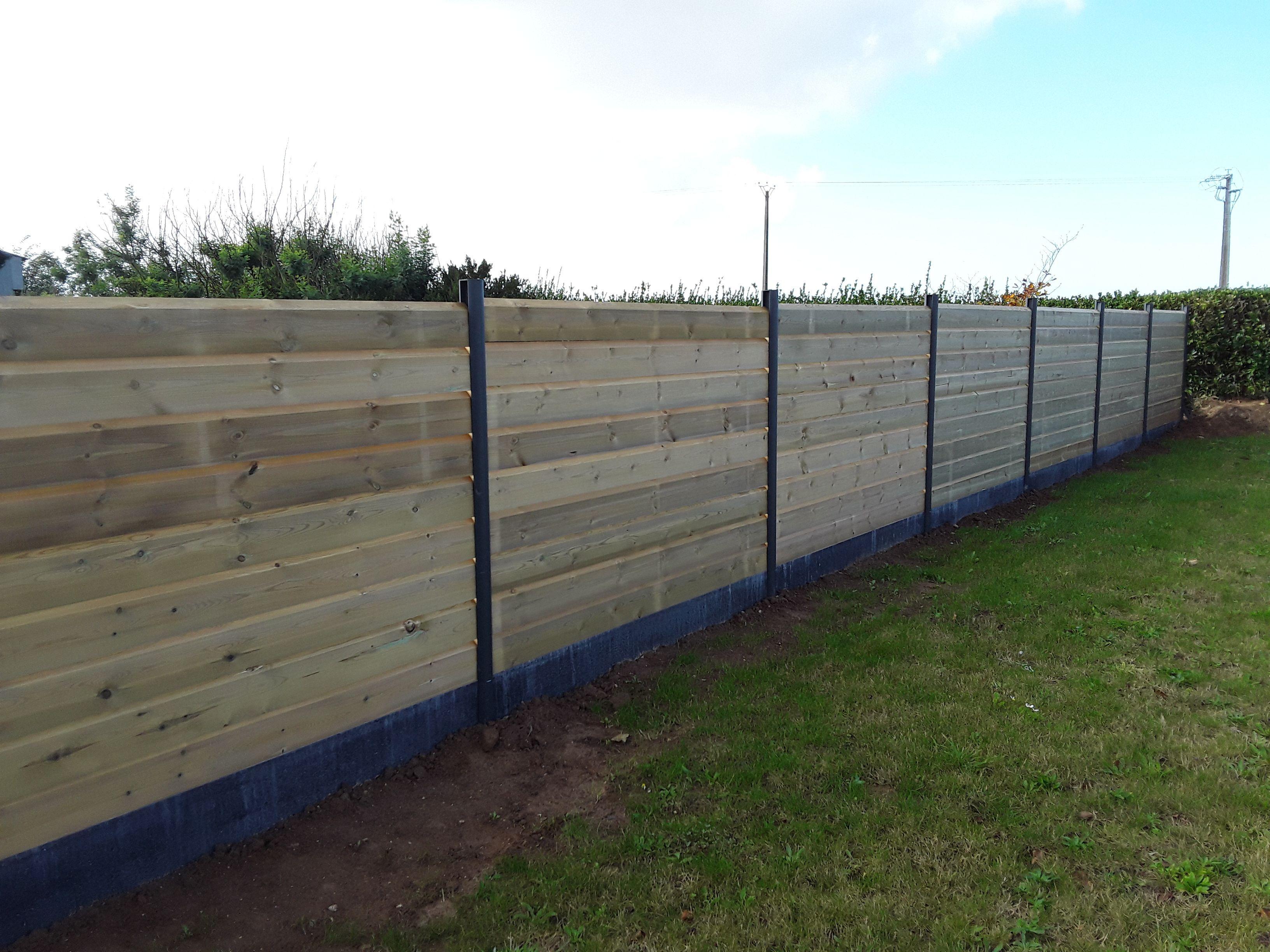 Bois Pour Exterieur Classe 4 clôture bois en lames persienne traité autoclave classe 4