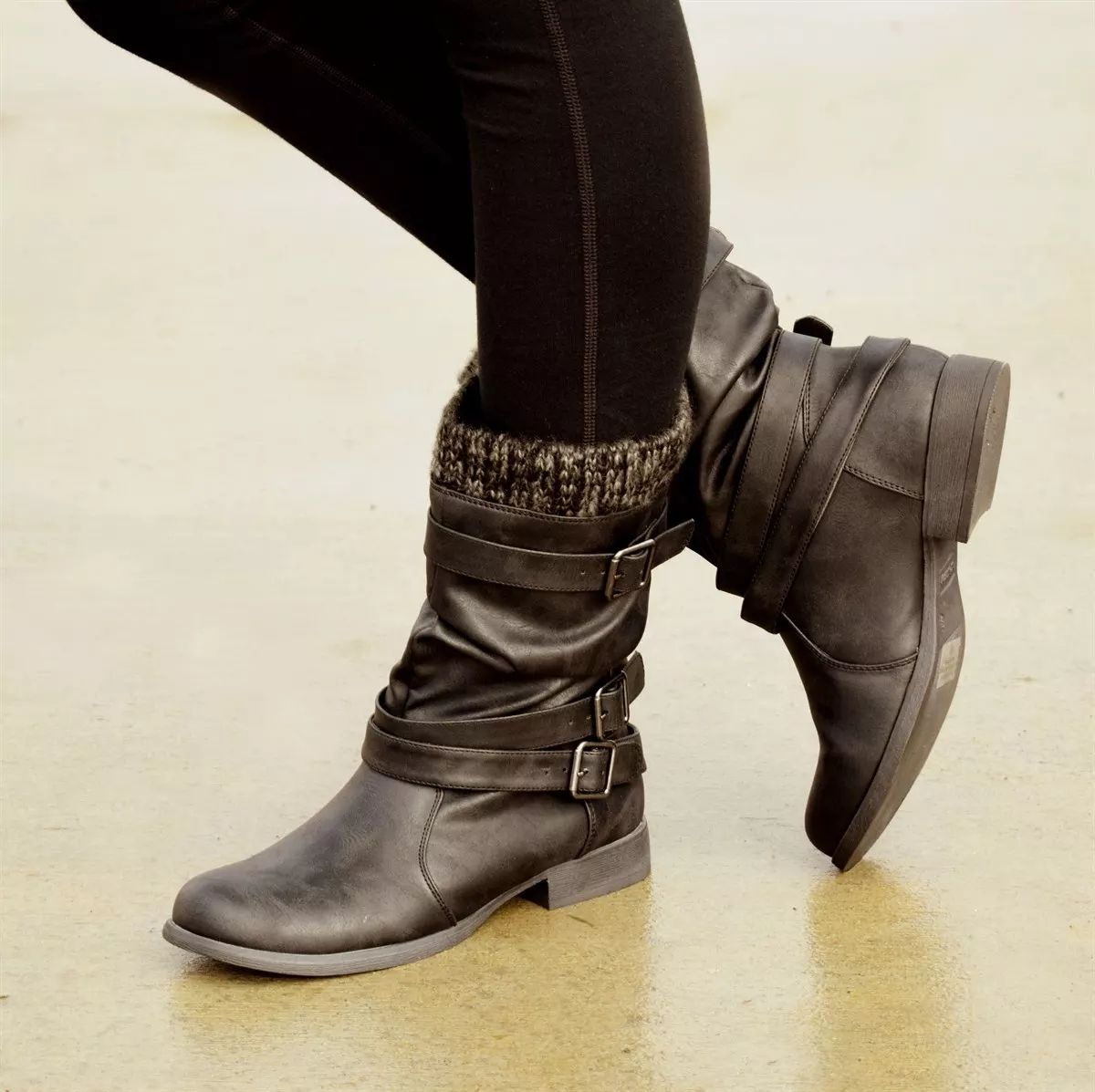 Fashion Square Low Heel Boots   Boots, Low heel boots, Mid
