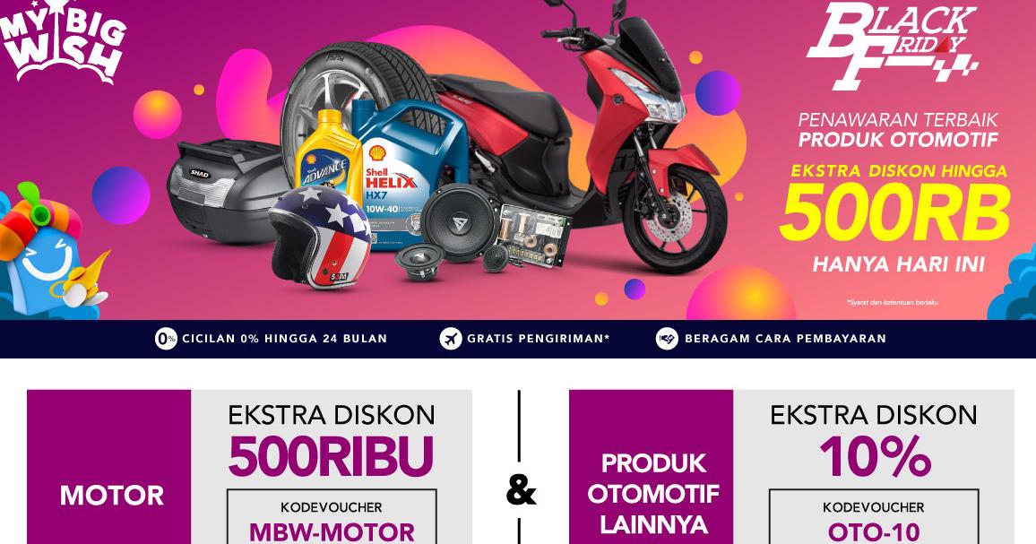 Promo Blibli Com Auto Black Friday Diskon Hingga 500ribu Promo Aksesoris Motor Ban Helm Jaket Terbaru 2019 Periode Promo Shopping Online Shopping Online