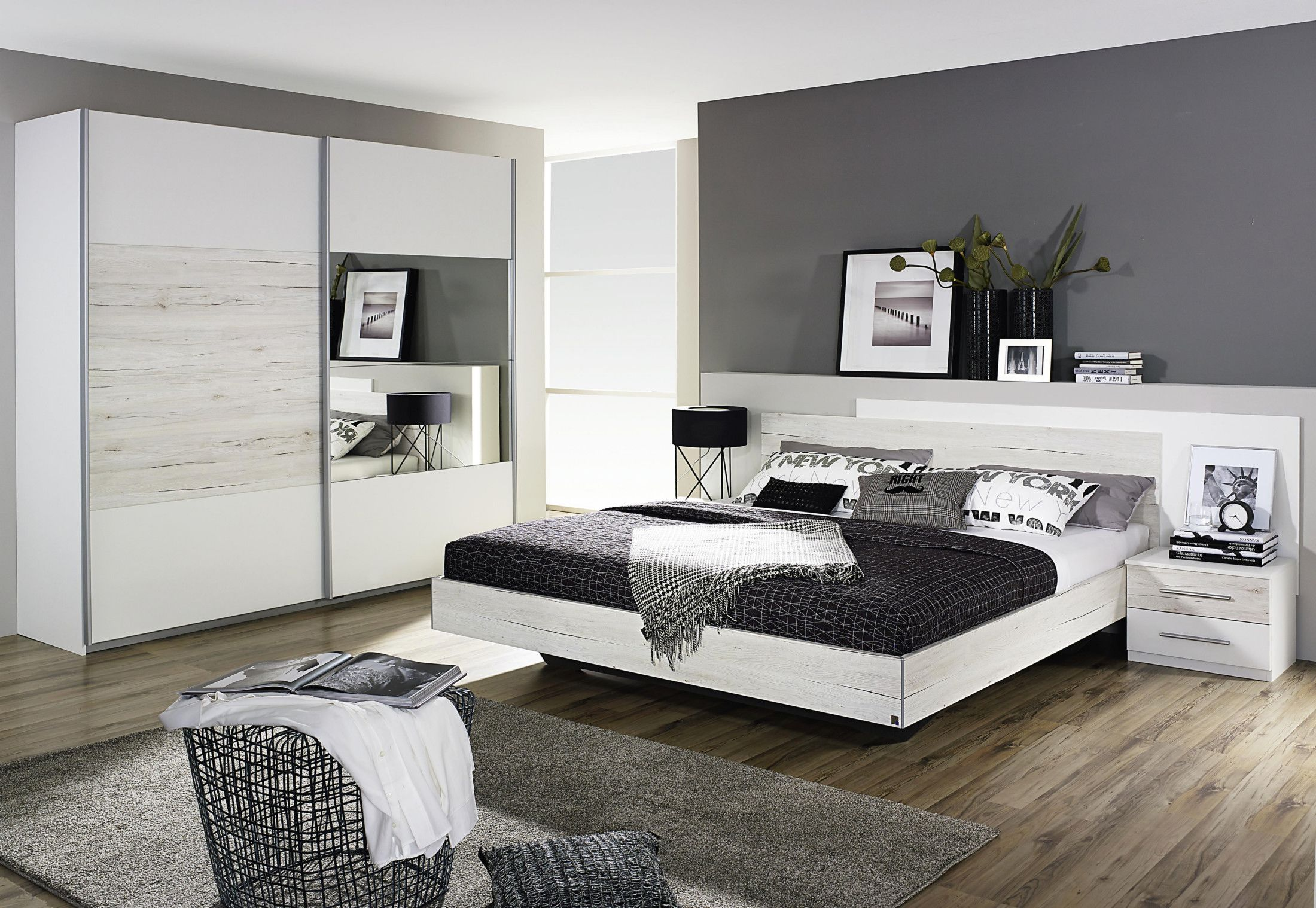 Wunderbar Schlafzimmer Set In Alpinweiss Woody 33 01142 Eiche Modern Jetzt Bestellen  Unter: Https