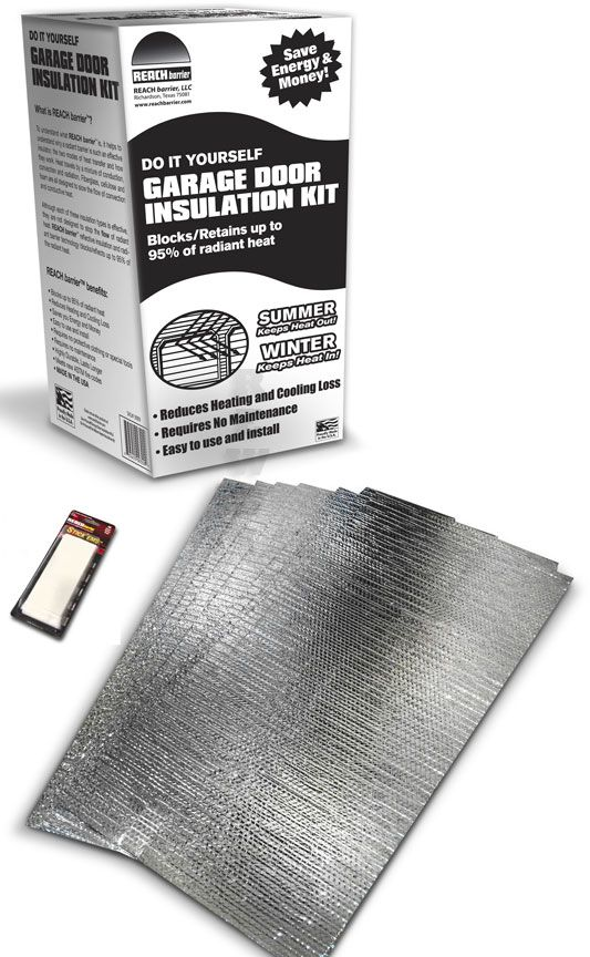 Reach Barrier Reflective Air Garage Door Insulation Kit 4999