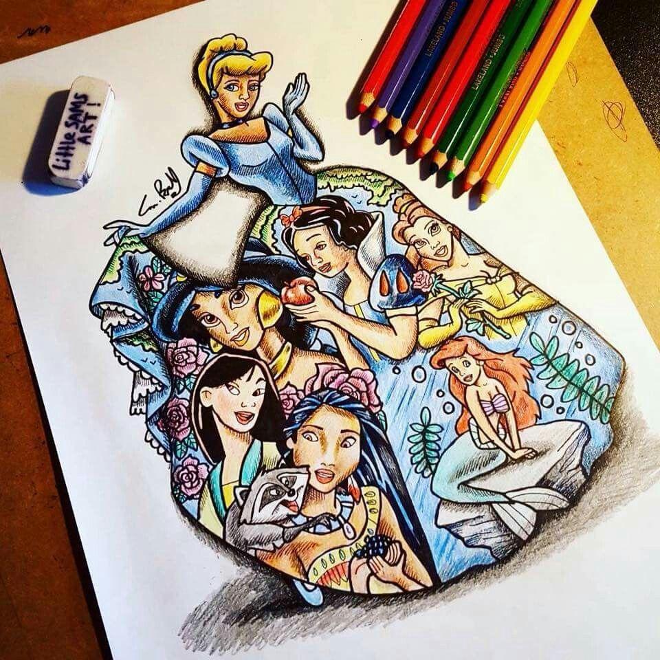 Pin Samantha Cota Disney Tekenen Kunst