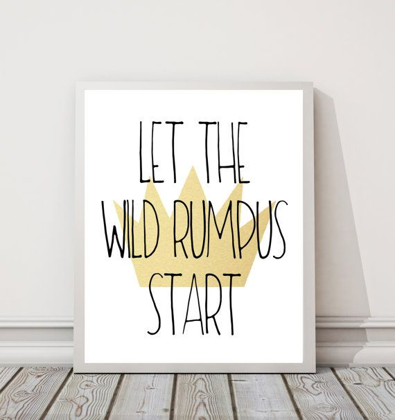 graphic relating to Let the Wild Rumpus Start Printable identified as Allow for The Wild Rumpus Commence 8\