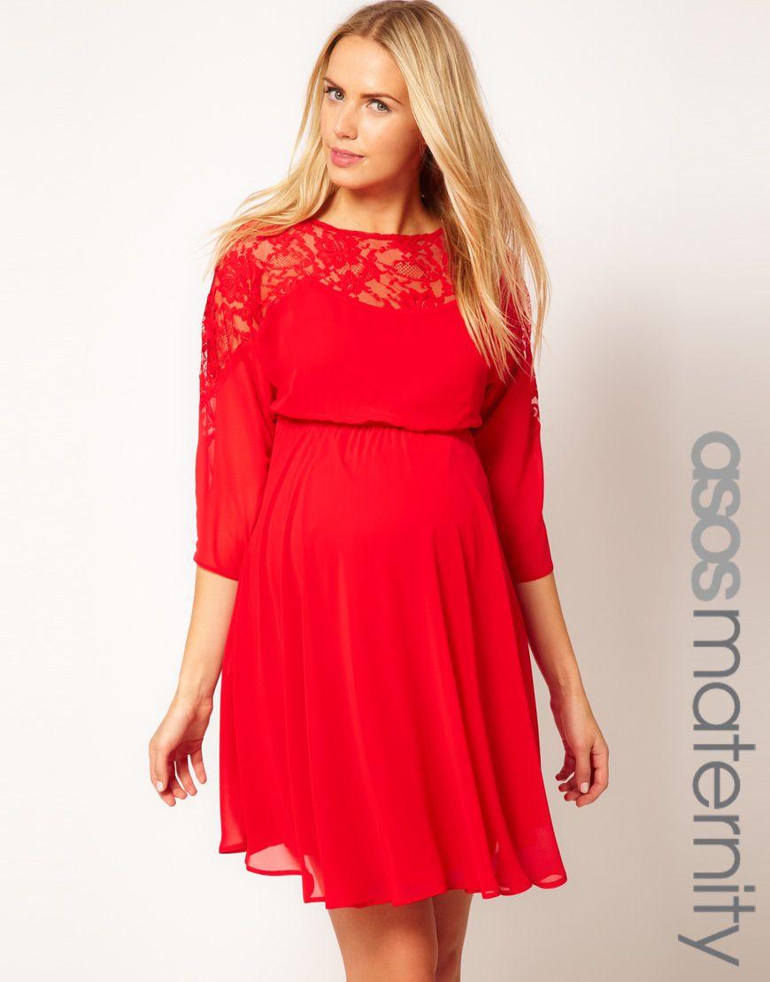 860b329adb6 ASOS red maternity dress  D
