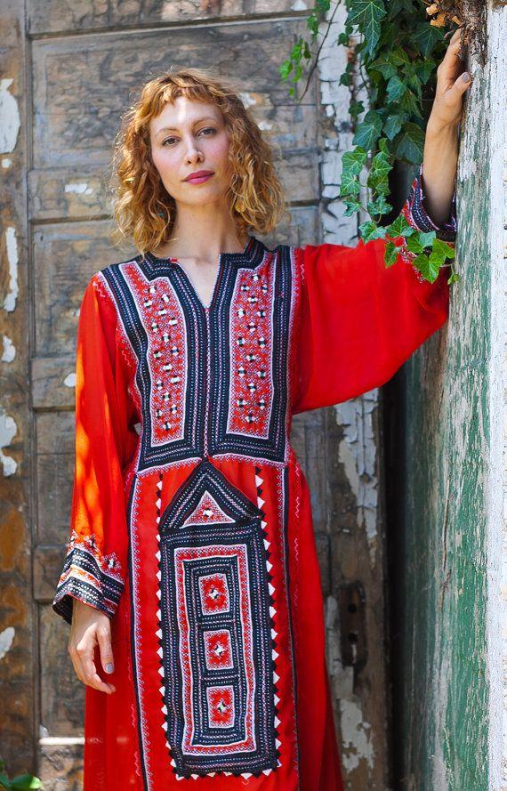 My Red Summer Afghani Dress available at Tavin Boutique online at TavinShop