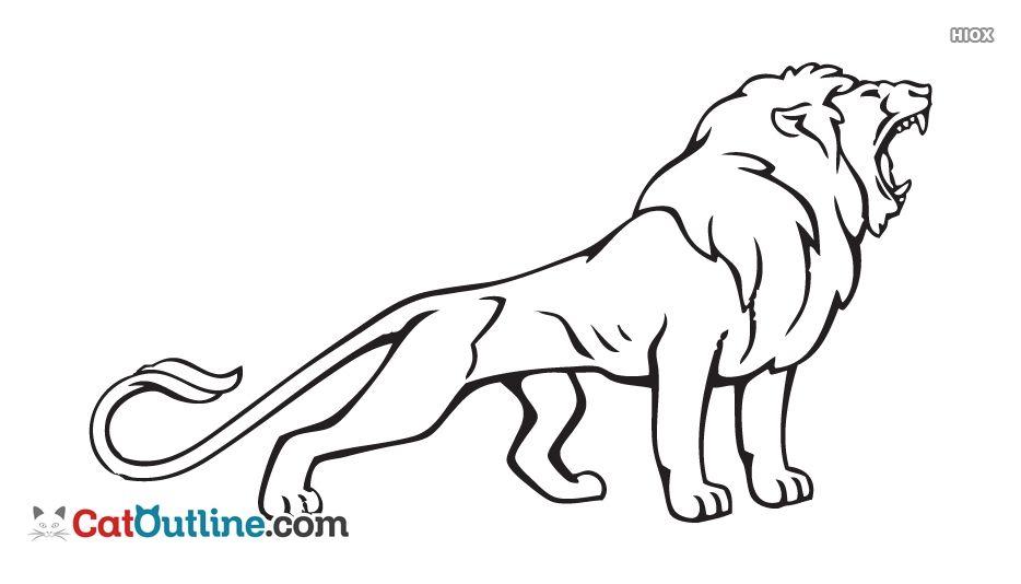 Lion Outline Png Catoutline Com In 2020 Creepy Art Outline Lion Download for free in png, svg, pdf formats 👆. pinterest