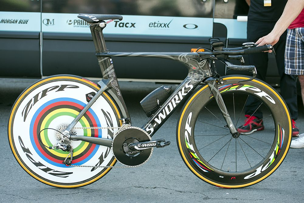Pro Bike: Tony Martin's stage-winning Specialized S-Works Shiv - Tony Martin (Omega Pharma-Quick Step) won the Tour de France's time trial with a healthy buffer aboard this custom painted Specialized S-Wor...