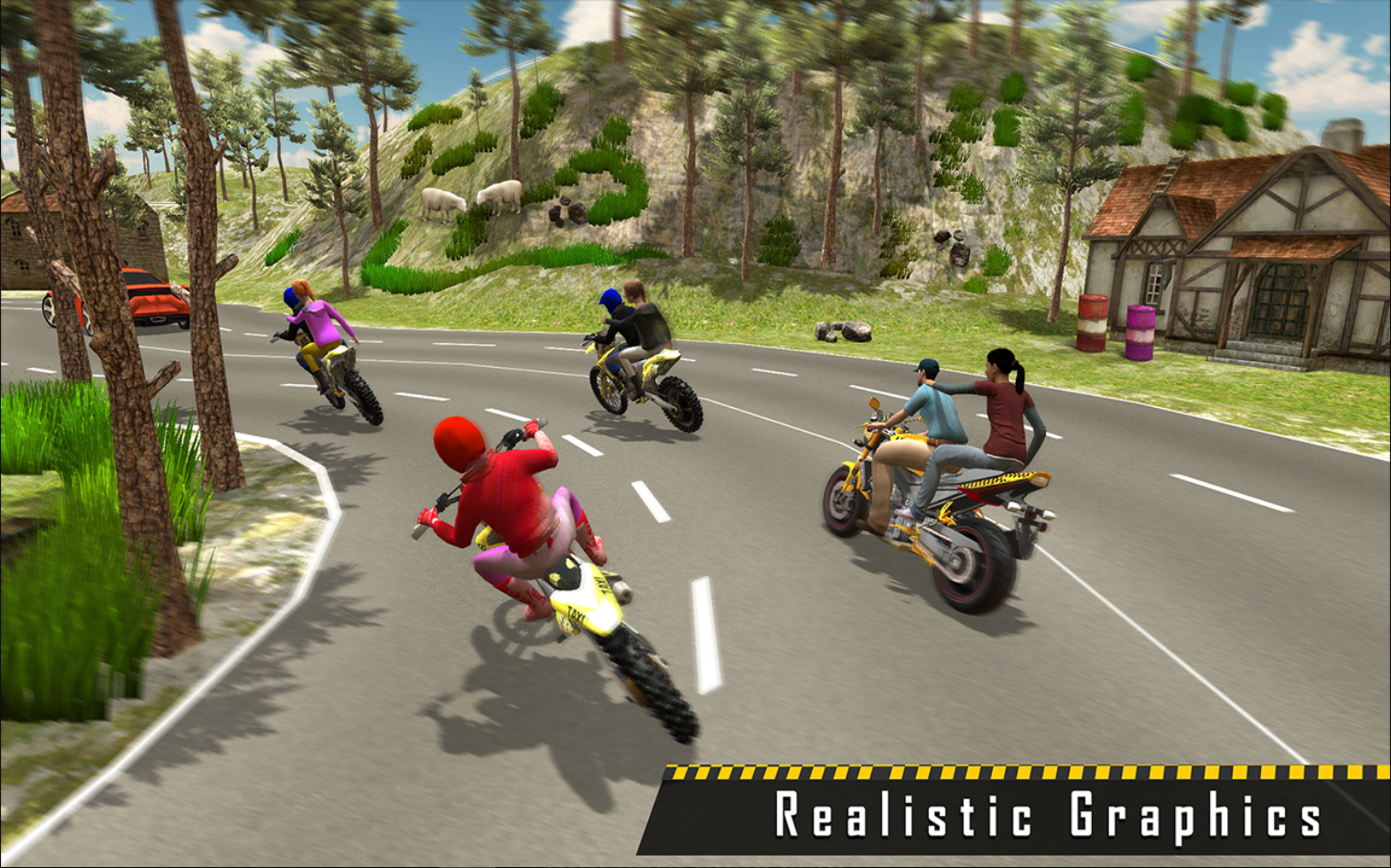 Try the new Bike simulation game: New Sports Bike Taxi Sim