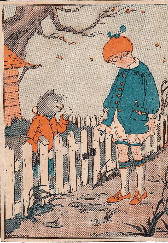 My Neighbor The Cat 1920s Children S Book Illustrations Illustration Childrens Illustrations Children S Book Illustration