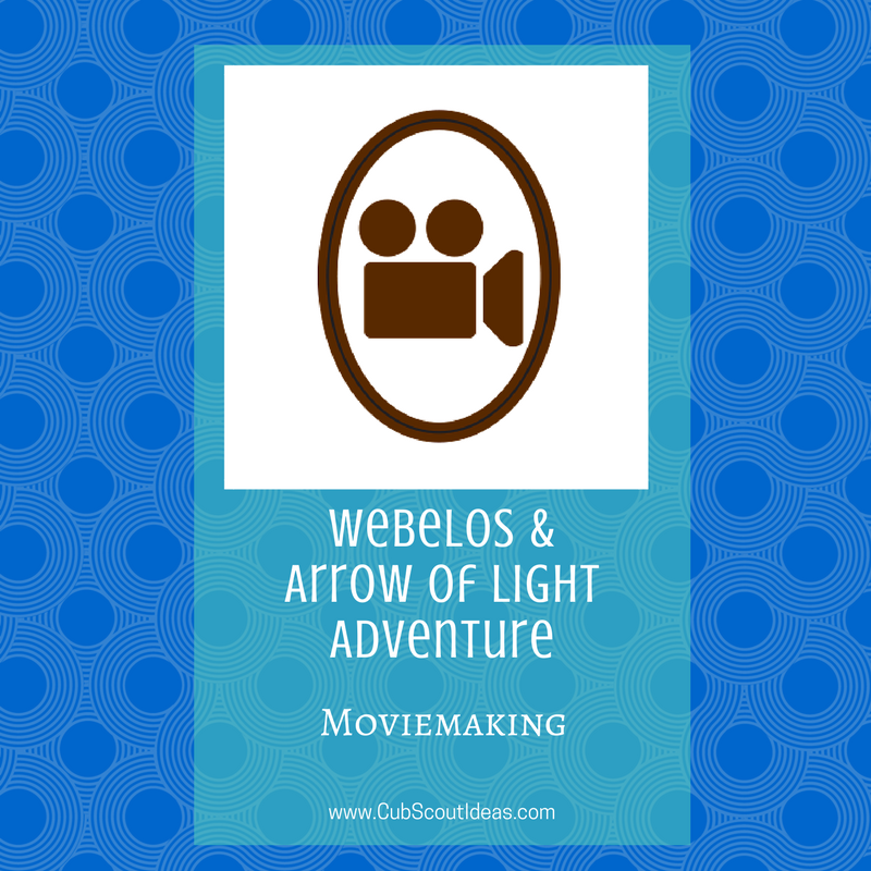 Pin On Moviemaking Webelos Arrow Of Light Adventure Cub Scouts