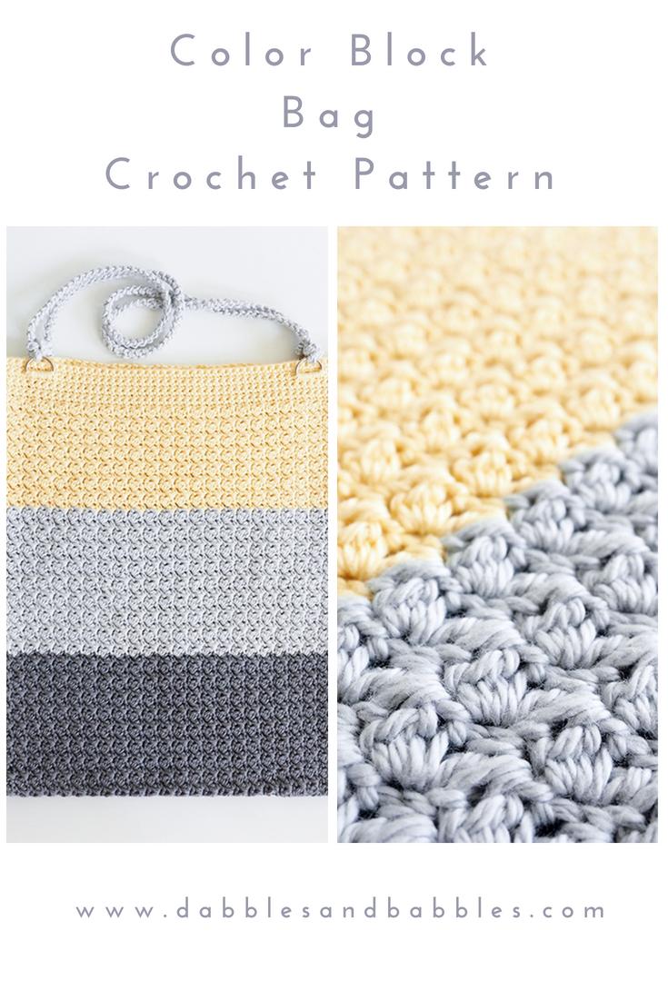 Color Block Bag Crochet Pattern | Crochet~Bags | Pinterest
