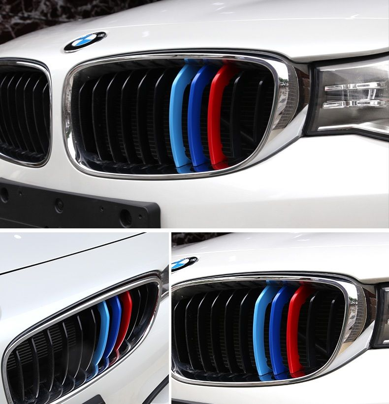 Bmw Stripes M Coloured Grille Snap On Overlays For X3 To X6 Bmw X3 Bmw Accessories Bmw