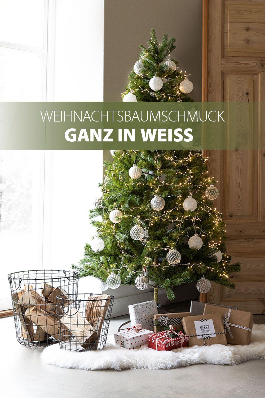 Weisse Weihnachten Christmas Xmas Baumschmuck Tannenbaum Weihnachtskugeln Weihnachtsdeko Deko Weihnachtsdeko Deko Weihnachten Adventskranz Weihnachten