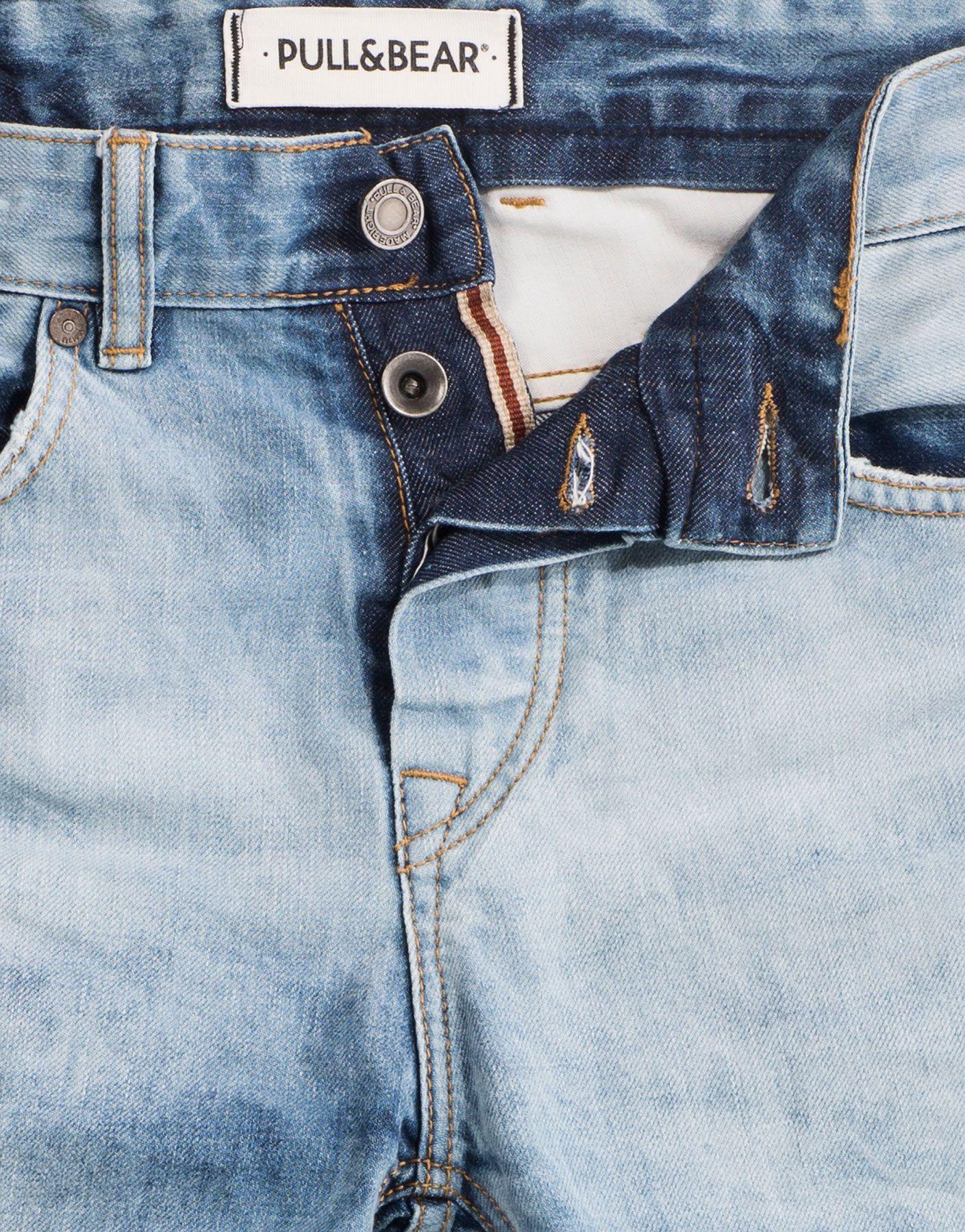 Jean Basic Slim Fit Jeans Homme Pull Bear France Light Blue Jeans Denim Details Stylish Mens Outfits