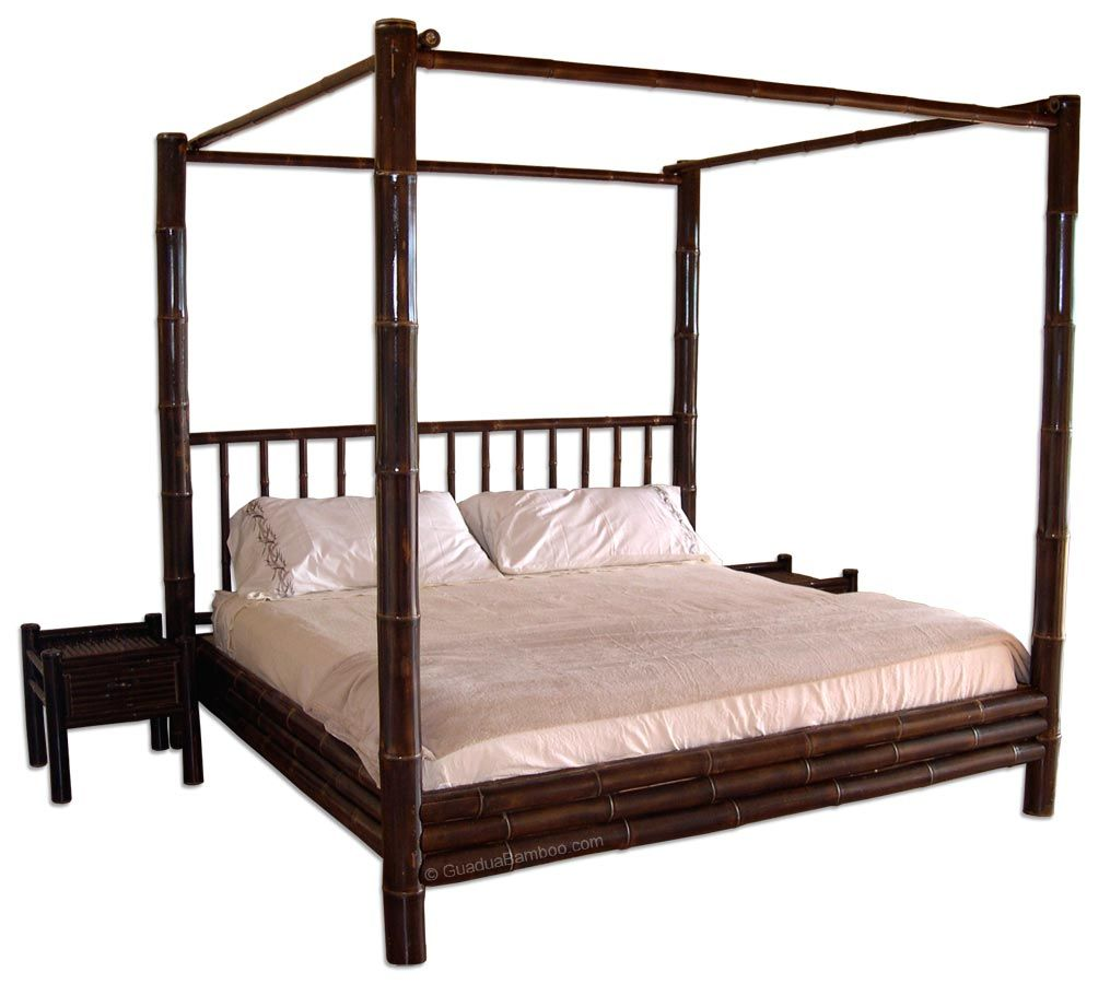 Best Tamarindo Bamboo Canopy Bed Bed Frame Bed Queen Size 400 x 300