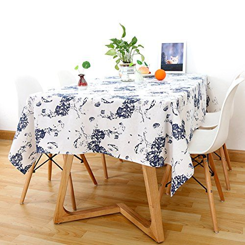 Simple Cotton And Linen Garden Fresh Table Cloth Living Room Tablecloth Table Mat Tablecloth A 140x240cm 55x94inch Fresh Living Room