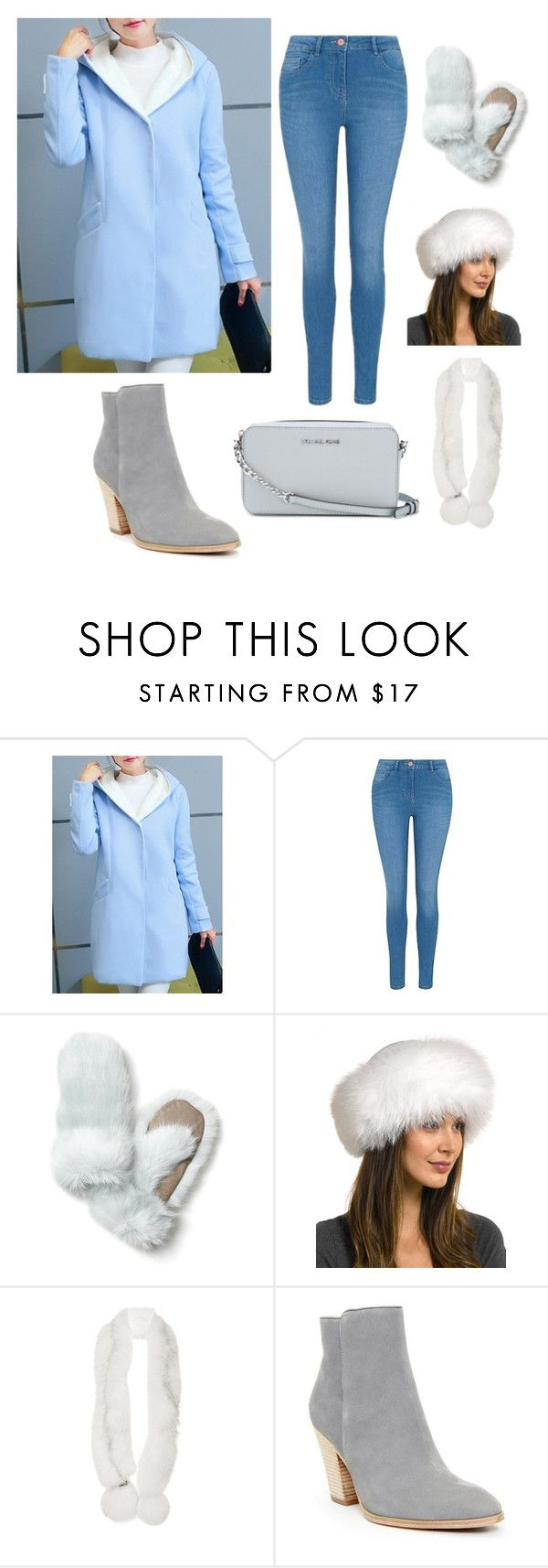 """white fur"" by dinamahmoud ❤ liked on Polyvore featuring George, Banana Republic, FRR, Georgine, Donald J Pliner and MICHAEL Michael Kors"