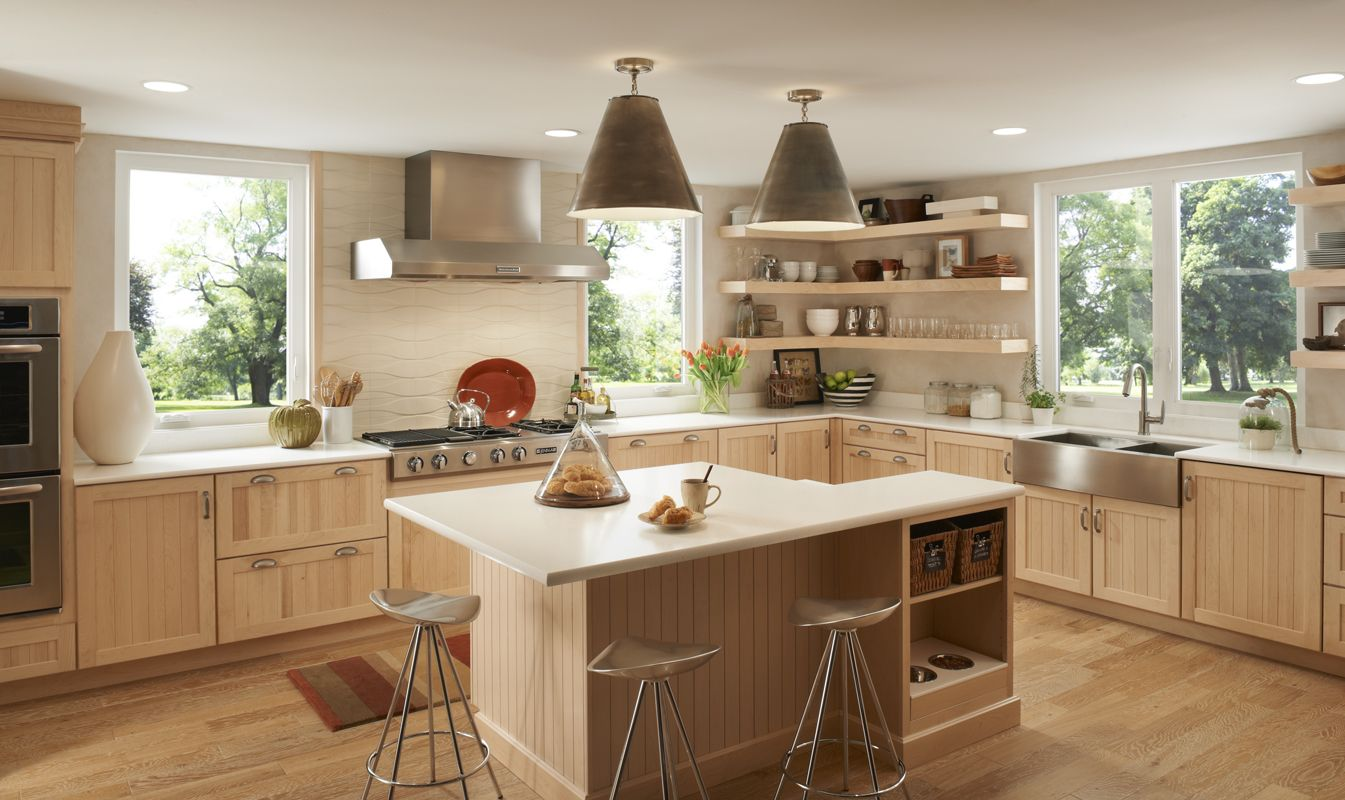 light wood light colors lighthearted featured tuscany on floating shelves kitchen id=77722