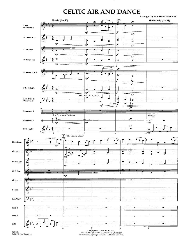 Celtic Air And Dance Arr Michael Sweeney Sheet Music Flute Parts Celtic