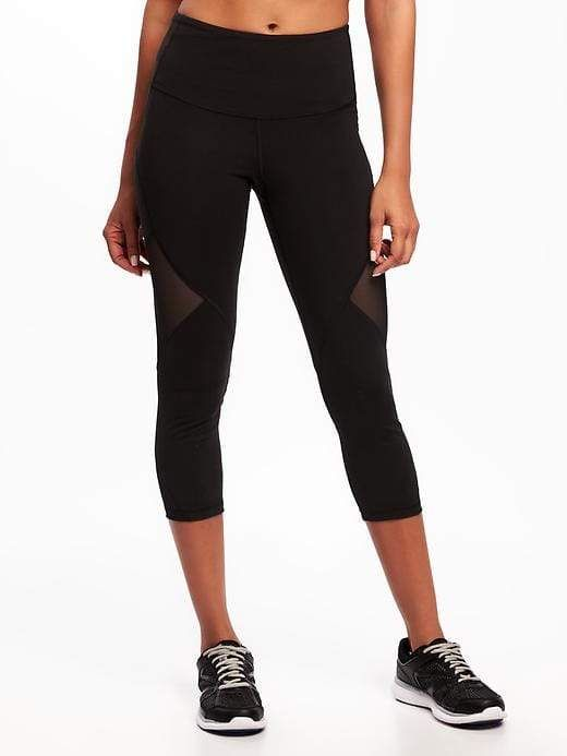 061ed20124e43b High-Rise Mesh-Panel Elevate Compression Crops for Women in 2019 ...