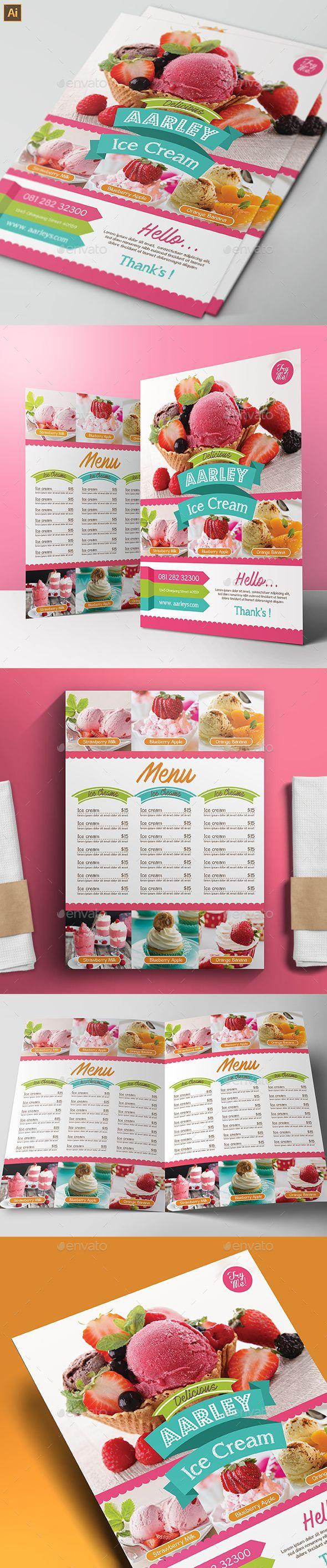 Ice Cream Menu | Cartelitos