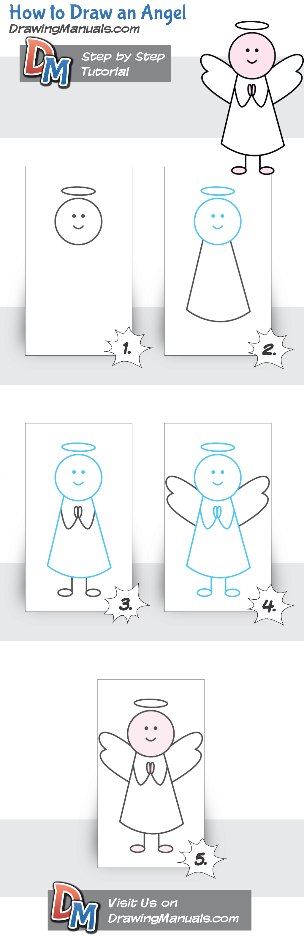 how to draw an angel for children doodles u0026 drawing pinterest