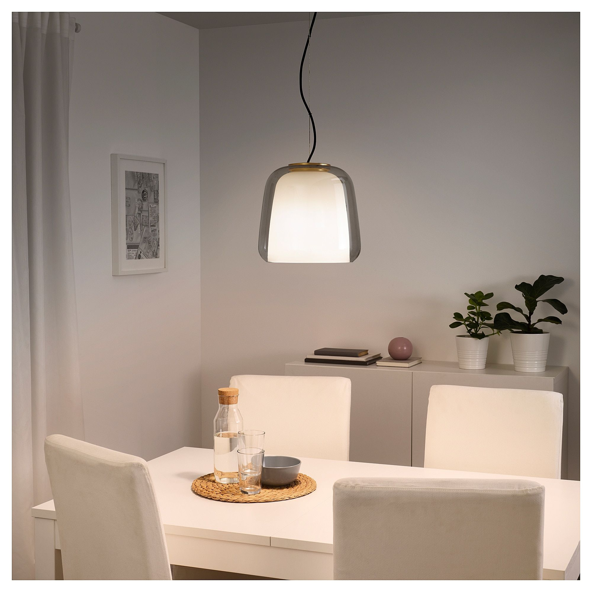 IKEA - EVEDAL Pendant Lamp Gray In 2019
