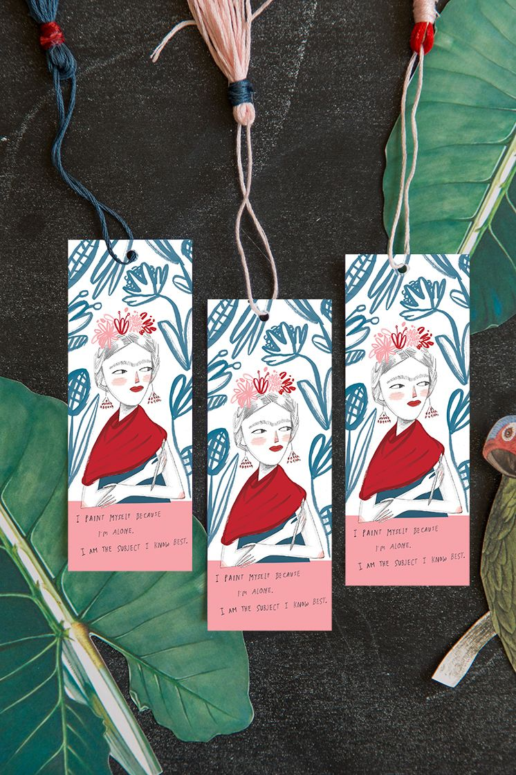 Lars Book Club check-in: Frida Kahlo printable & bookmark ...