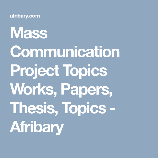 thesis topics for communication students