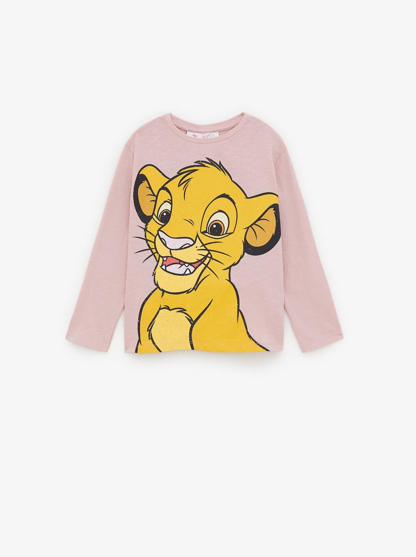 Shirt Mit Simba Und Nala Konig Der Lowen C Disney Alles Sehen T Shirts Madchen 6 14 Jahre Kinder Zara Deut Simba Und Nala Disney Nala Konig Der Lowen