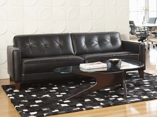 Miraculous Gregata Leather Sofa Black Furniture Living Room Gmtry Best Dining Table And Chair Ideas Images Gmtryco