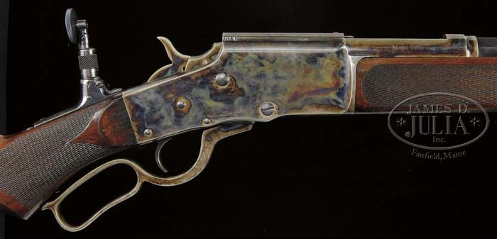 VERY RARE BULLARD MODEL 1886 DELUXE LEVER ACTION RIFLE.