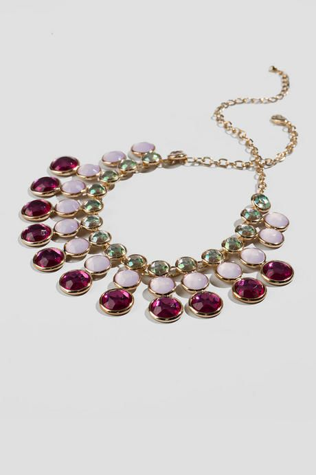 """Any girly girl would love a pink, sparkly necklace! The Ava Jeweled Statement Necklace features pink jewels that create an ombre effect.<br /> <br /> - finished with a lobster claw clasp<br /> - 17.5"""" length<br /> - 3"""" extension<br /> - lead & nickel free<br /> - Imported"""