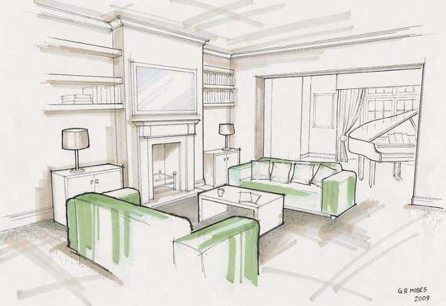 Como Aprender Dibujo Para Disenadores De Interiores El Como De Las Cosas Bocetos De Diseno De Interiores Disenos De Unas Dibujo De Arquitectura