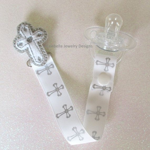 Light of Jesus Cross Pacifier Clip Paci Soother Nook Binky Valebinky Holder baby…