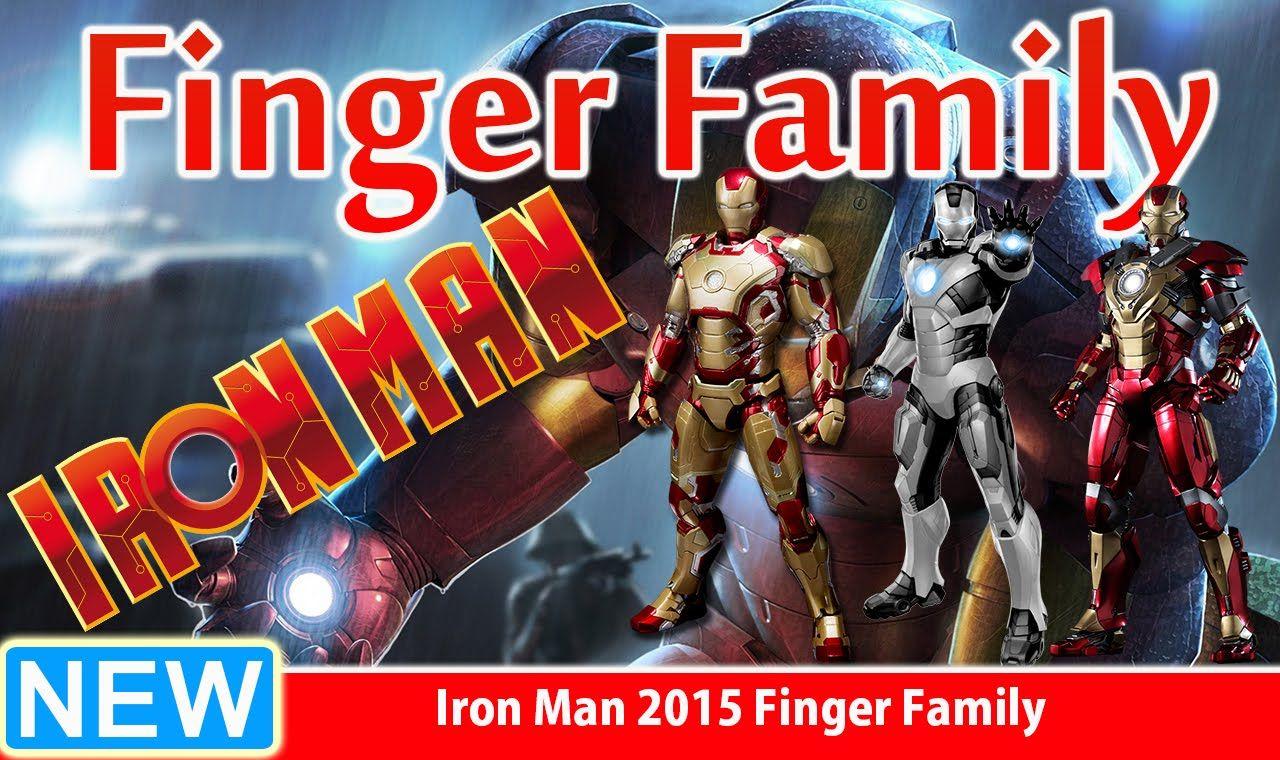 Iron Man 2015 Finger Family Nursery Rhyme for Children