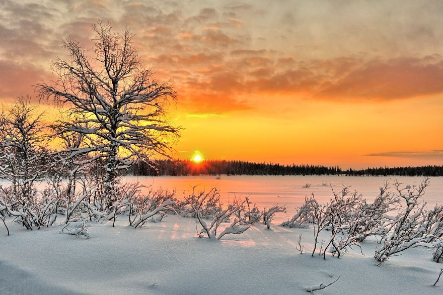 In Finland I Discovered A Colorful, Ambient Scenery For Cross-Country Skiing | Bored Panda